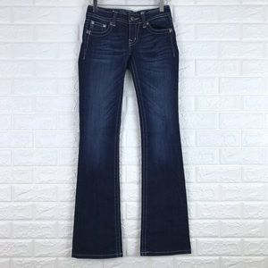 Miss Me Boot Cut Jeans Flap Pockets Embellished 25